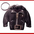 MOTORCYCLE Leather Biker Coat JACKET  Key Ring