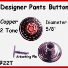 (2) Designer Jean Pants Buttons - 2 tone Fits Overalls