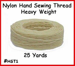 Wht Heavy Nylon Hand Sewing Leather Thread