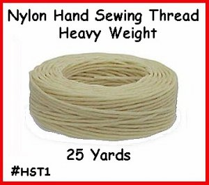 WHITE - Heavy Nylon ~ Hand Sewing Leather Thread