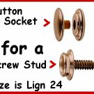 40 Buttons & Sockets for canvas SNAPS Nickel ~ NO TOOLS