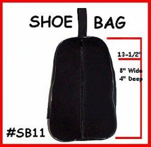 BLACK - Shoe travel Bag or Case ~ Dance or Golf Shoes
