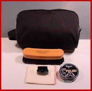 Quality BLACK Military SHOE SHINE KIT fits in a BOX