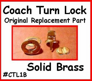 Official COACH HANDBAG PURSE Replacement TURNLOCK part