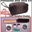 Quality! LARGE SHOE SHINE Travel KIT / 8 PRO Products