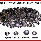Quality NICKEL 200 pcs 50sets LEATHER SNAPS FASTNER