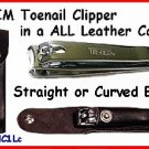 TRIM Toe Nail CLIPPER in Leather Case FREE SHIPPING!