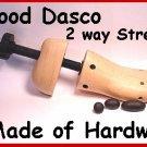 Mens MEDIUM Wood PRO 2-Way Shoe Stretcher FREE liquid