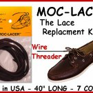 BLACK - Mock-Lacer - Leather LACES for Boat, Deck Shoes