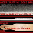 Wood Wire Sole Ruffing Brush for Ballroom Latin Dance