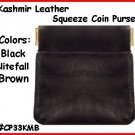 BLACK Kashmir Leather Squeeze IT Credit Card COIN PURSE