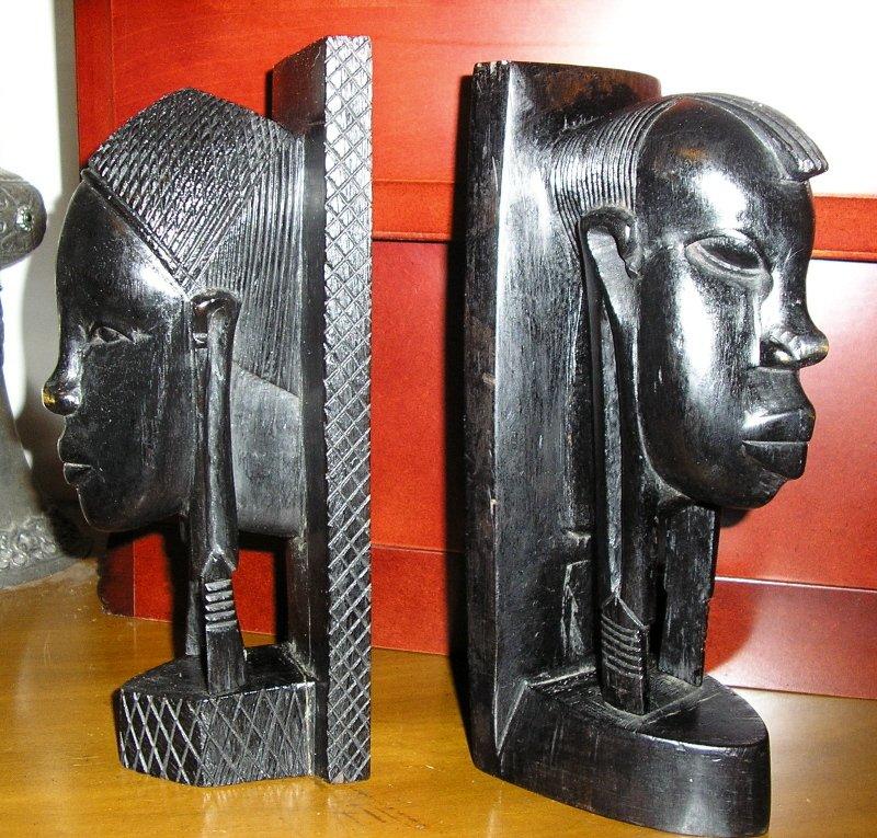 Antique African wood Carving sculptures Tribal folk art