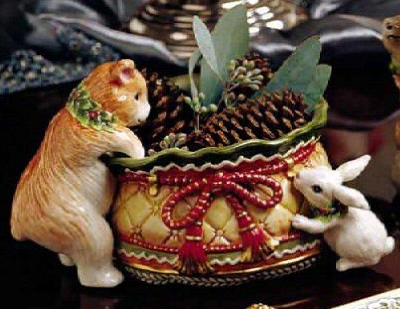 FItz & Floyd  Winter Holiday Santa - Tidbit Dish  NEW