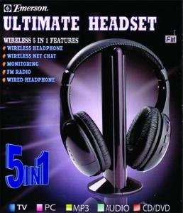 Emerson 5 N 1 Wireless Headphone Retail