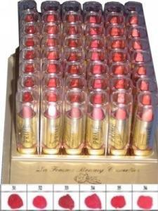 La Femme Gold Cap Lipstick Tray 6