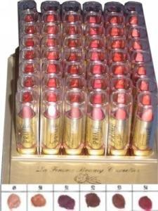 La Femme Gold Cap Lipstick Tray 9