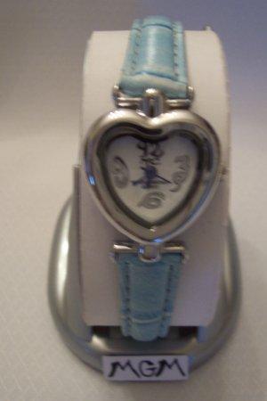 Woman watch heart w/blue bracelet