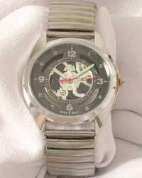 Montres Carlo Men's Grey Face Watch W/Flex Band