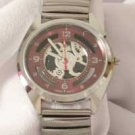 Montres Carlo Men's Red Face Watch W/Flex Band
