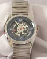 Montres Carlos Men's Watch W/Blue Face And Flex Band