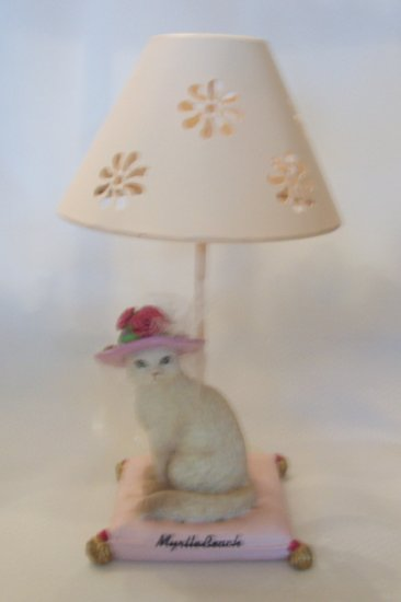 Feline With A Hat Tea Candle Figurine