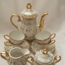Sterling Porcelain Tea Set With 24k Gold Floral Design