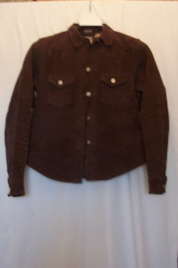 Junior/Women's Dark Brown Suede Jacket