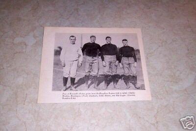 HARVARD HAUGHTON REGIME FOOTBALL GREATS PHOTO