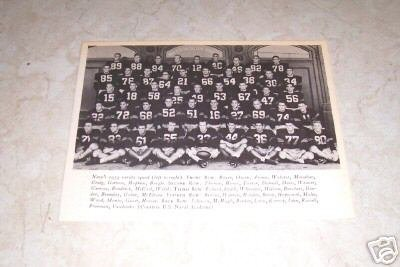 U.S. NAVAL ACADEMY 1954 FOOTBALL TEAM PHOTO