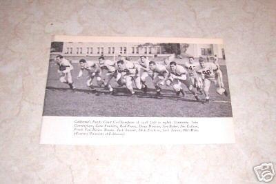 UNIVERSITY OF CALIFORNIA 1948 FOOTBALL TEAM PHOTO