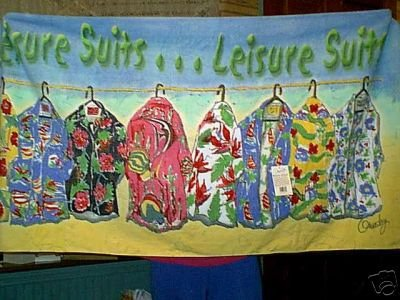 HAWAIIAN LEISURE SHIRTS VELOUR BEACH TOWEL NWT