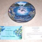 DANBURY MINT COLLECTOR PLATE SUNLIT GLOW 1991 WHALES