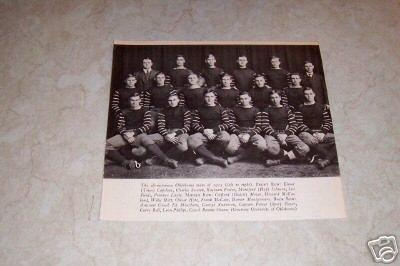 UNIVERSITY OF OKLAHOMA 1915 FOOTBALL TEAM PHOTO