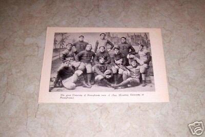 UNIVERSITY OF PENNSYLVANIA 1894 FOOTBALL TEAM PHOTO