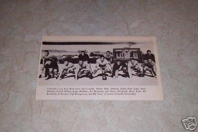 COLUMBIA UNIVERSITY 1933 ROSE BOWL FOOTBALL TEAM PHOTO