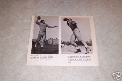 COLUMBIA UNIVERSITY U.C.L..A. 1942 FOOTBALL PHOTO