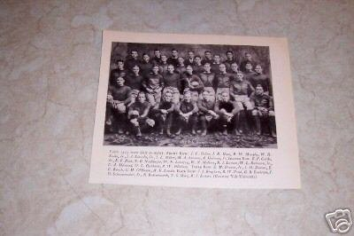 YALE UNIVERSITY 1923 FOOTBALL TEAM PHOTO