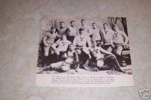 YALE UNIVERSITY 1888 FOOTBAL TEAM PHOTO