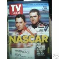 NASCAR Tony Steward Bobby Labonte TV Guide Feb 17 2001