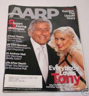 AARP Magazine Tony Bennett and Christina Aguilera 9-10-07