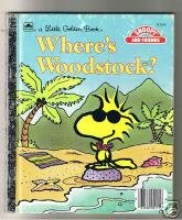 Where's Woodstock Charles M Schulz Little Golden Book 1988