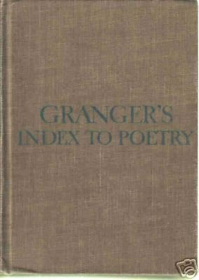 Granger's Index to Poetry 1904-1962 HC