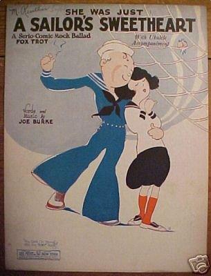 She Was Just A Sailor's Sweetheart Sheet Music 1925 Ukulede