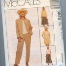 McCall's 8848 Jacket Top Slacks Misses 12-14-16 New Uncut