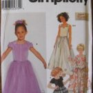 Simplicity 7000 Karen Z Lined Tops Long Skirt Girls 5-8