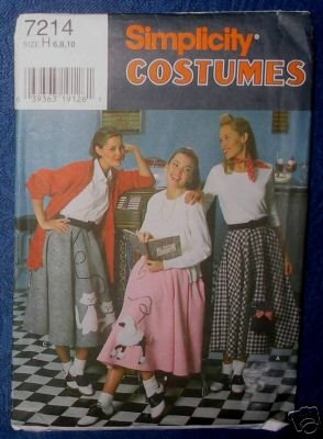Simplicity 7214 POODLE SKIRT COSTUME Misses 18-22 1996