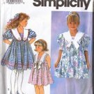 Simplicity 7697 DRESS COLLAR Girls  5-6-6X