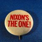 Nixon's The One! Political Button Pin