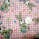 JELLY BEAN PARADE EASTER BUNNY PINK GINGHAM FABRIC