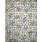 EASTER BLESSING BUNNY EGG BLUE CHECK FABRIC